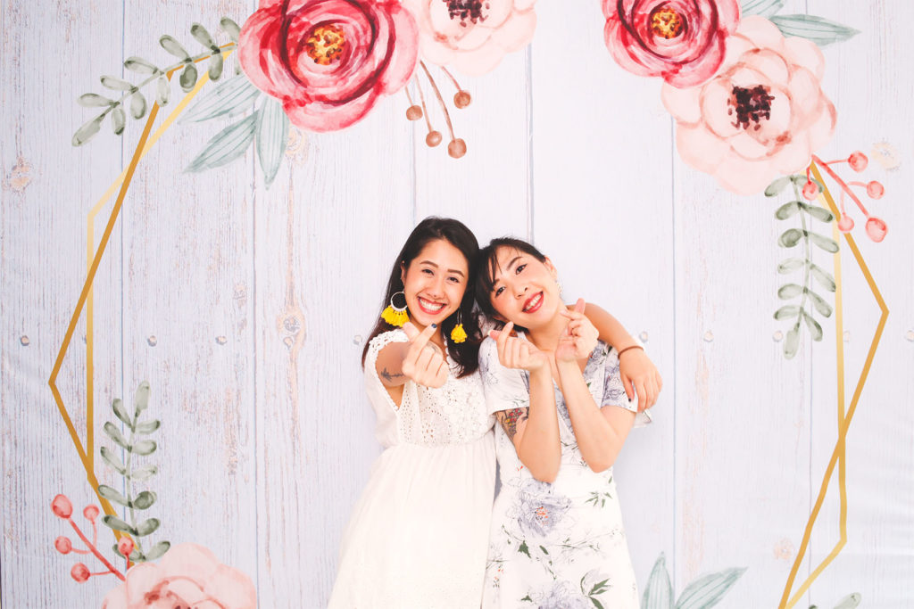 Photo booth backdrop and rental